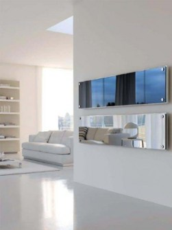glas radiatorer, glasfront element, Radiator med glasfront panel